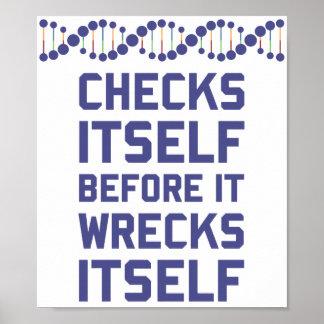 Compruébese antes de que usted arruine su genética póster