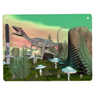 Compsognathus dinosaur - 3D render Dry Erase Board With Keychain Holder