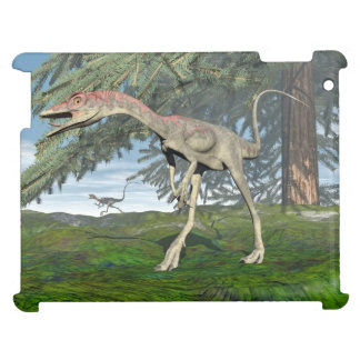 Compsognathus dinosaurs - 3D render Cover For The iPad 2 3 4