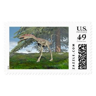 Compsognathus dinosaurs - 3D render Postage