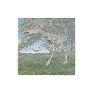 Compsognathus dinosaurs - 3D render Stone Magnet