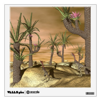 Compsognathus dinosaurs - 3D render Wall Sticker