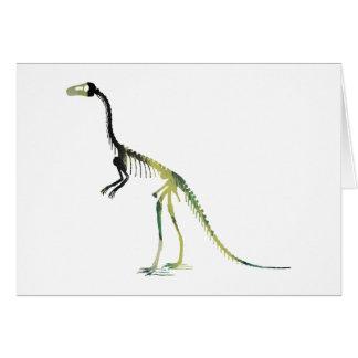 compsognathus skeleton card