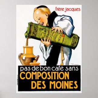 Comptoir Des Viandes Vintage Food Ad Art Poster