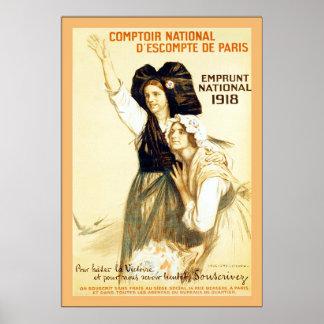 Comptoir National d'escompte de Paris ~ Vintage Poster