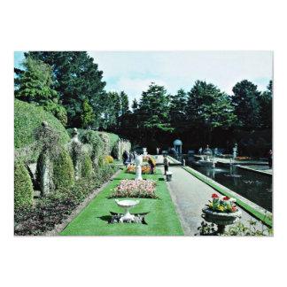 "Compton Acres Italian Gardens, Poole, U.K.  flower 5"" X 7"" Invitation Card"