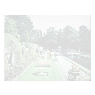 Compton Acres Italian Gardens, Poole, U.K.  flower Letterhead Template