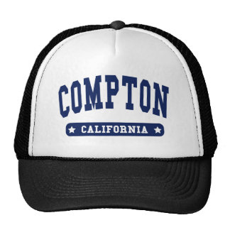 Compton California College Style tee shirts Trucker Hat