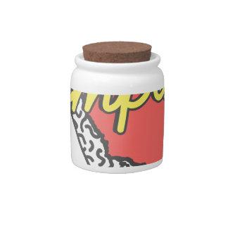 Compton California Retro Souvenir Candy Jar