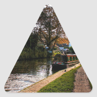 Compton canal and barge triangle sticker