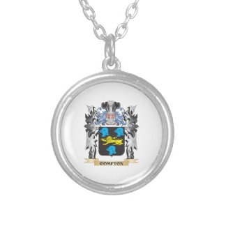 Compton Coat of Arms - Family Crest Round Pendant Necklace