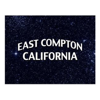 Compton del este California Tarjeta Postal