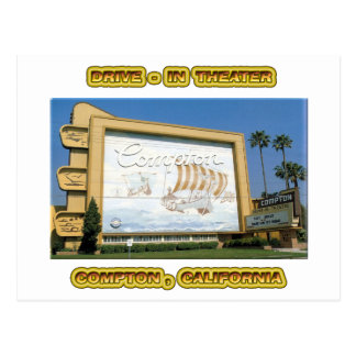 Compton Drive In Theater Post Card