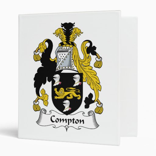 Compton Family Crest 3 Ring Binders