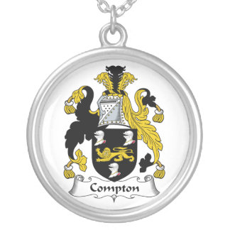 Compton Family Crest Round Pendant Necklace