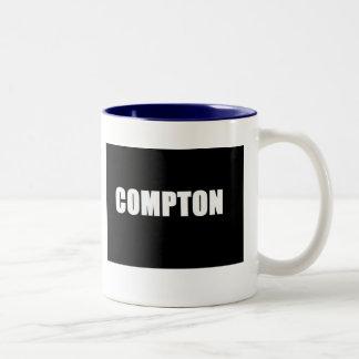 Compton (negro) taza de café de dos colores
