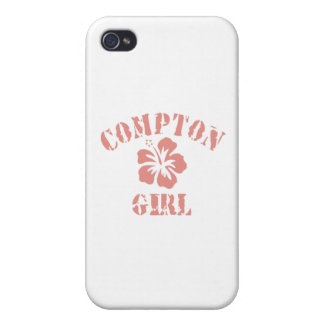 Compton Pink Girl Cover For iPhone 4