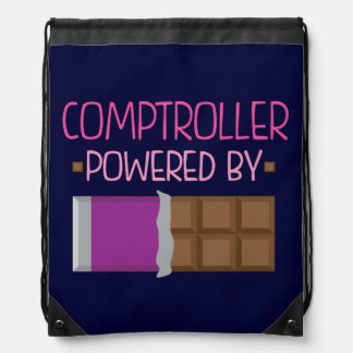 Comptroller Chocolate Gift for Her Drawstring Backpack
