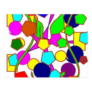 Compuesto colorido/multicolor de la diversión de tarjeta postal