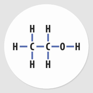 compuesto del alcohol pegatina redonda