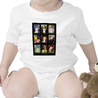 Compuesto famoso de Bichon Frise del arte Trajes De Bebé