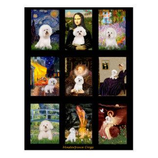 Compuesto famoso de Bichon Frise del arte Tarjetas Postales