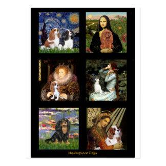 Compuesto famoso de la obra maestra del arte de postales