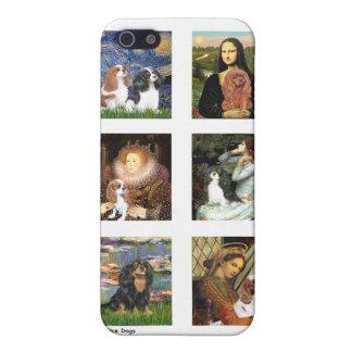 Compuesto famoso del arte de los caballeros claro iPhone 5 protector