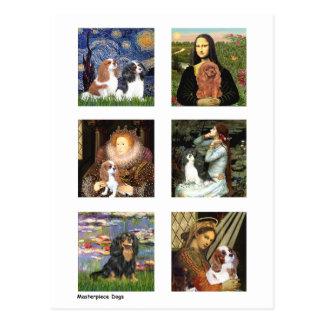 Compuesto famoso del arte de los caballeros tarjetas postales