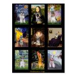 Compuesto famoso del dogo francés del arte tarjeta postal