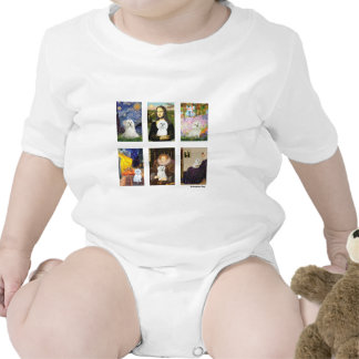 Compuesto maltés del arte famoso (claro) camisetas