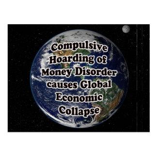 Compulsive Hoarding of Money Disorder  Postcard