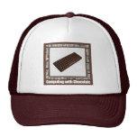 Computación con el casquillo del chocolate gorras