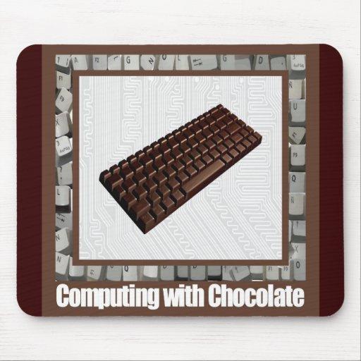 Computación con el chocolate Mousepad Tapetes De Ratones