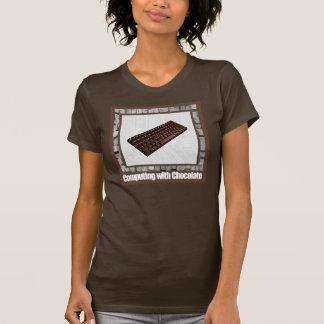 Computación con el chocolate camiseta