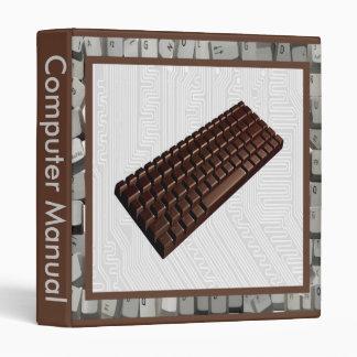 Computación con la carpeta del chocolate