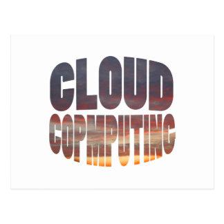 computación de la nube tarjeta postal