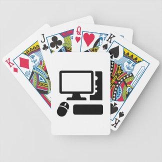 Computadora de escritorio baraja de cartas