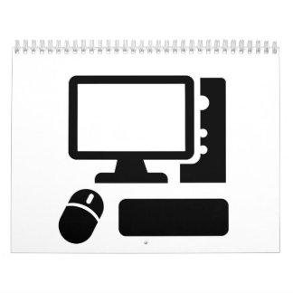 Computadora de escritorio calendarios