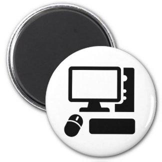 Computadora de escritorio imán redondo 5 cm