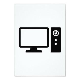 """Computadora de escritorio invitación 3.5"""" x 5"""""""