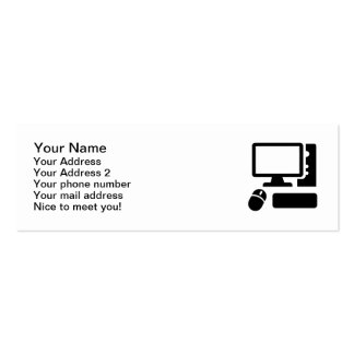 Computadora de escritorio tarjetas de visita mini
