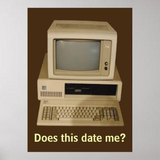 Computadora de escritorio vieja me fecha poster