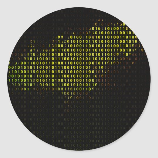 Compute Nebular Classic Round Sticker