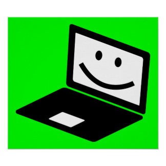 computer-157421  computer laptop notebook smile CU Poster