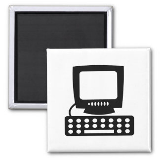 Computer 2 Inch Square Magnet