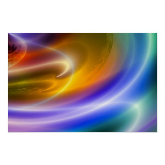 Computer Abstract Art Posters Digital Art Print