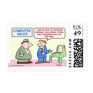 computer air bag stamps