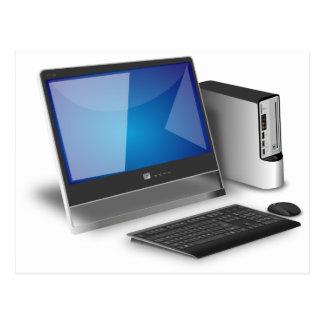 Computer And Monitor Postcard