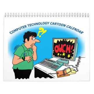 COMPUTER AND TECHNOLOGY CARTOON CALENDAR